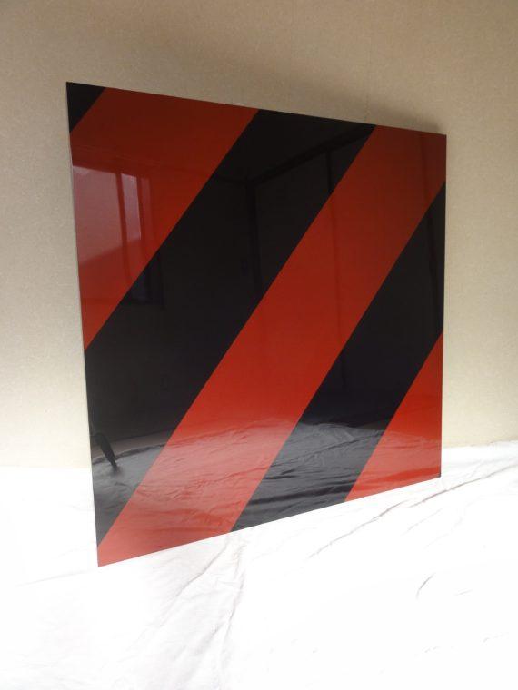 """岩田 俊彦 Toshihiko Iwata  """" untitled """" untitled  2017 / 漆、木製パネル japanese lacquer on wood panel  H90×W90×D3cm"""